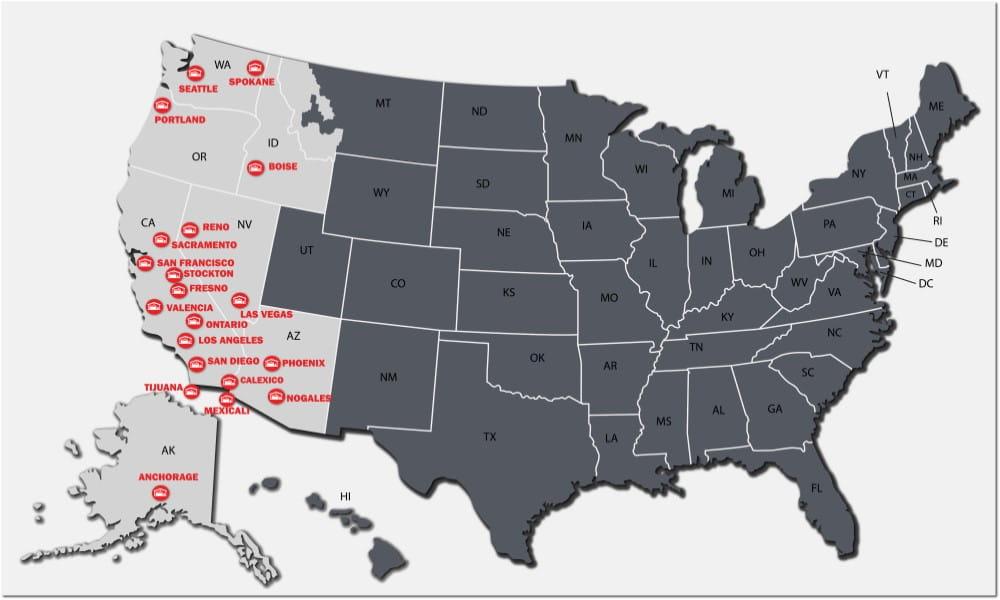 Raymond West Locations