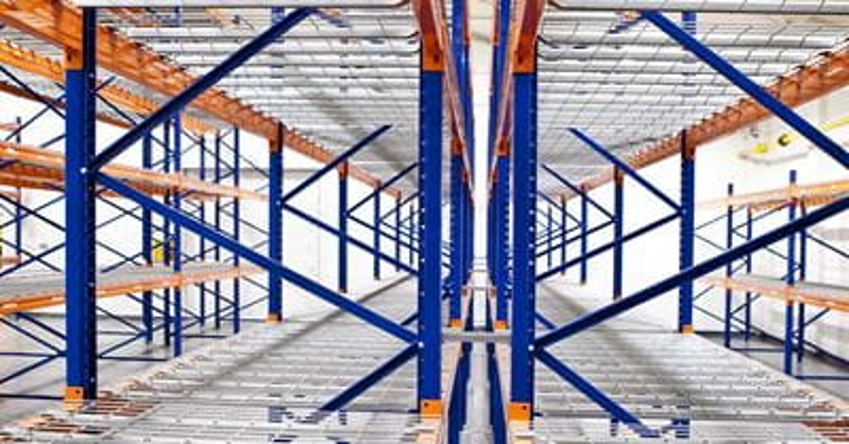 pallet rack flue space