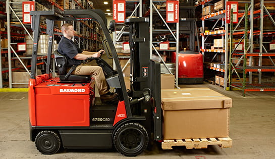 Raymond forklift, 4750 4-wheel sit down counterbalance truck