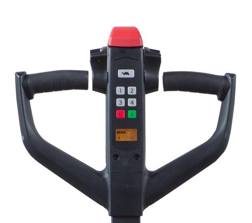 Close up image of key pad on walkie pallet Jack.